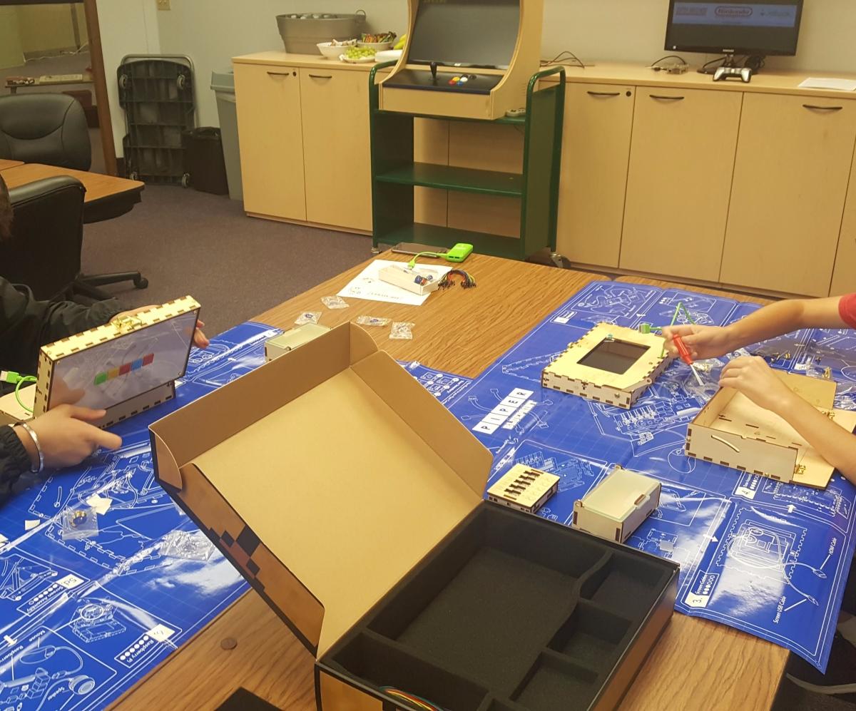 Students building Piper Kits